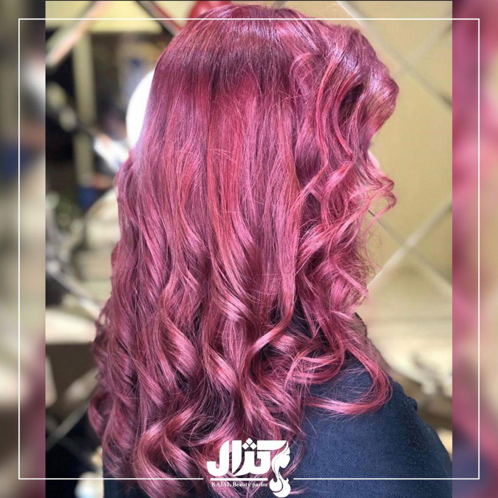 مراحل رنگ کردن مو